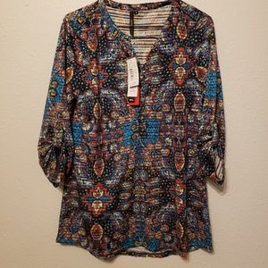 Cathy Brand Colorful Paisley Blouse